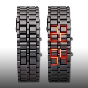 Fashionable LED Light Digital Stainless Steel Bracelet Wrist Watch,Size:18cm