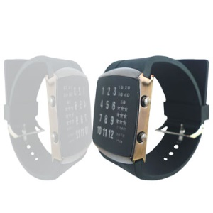 29-LED 3-Color-Light Rubber Band Mens Fashion Wrist Watch