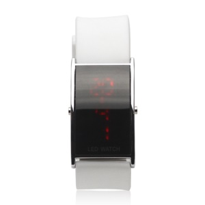 Hot LED Digital Unisex Sport Wrist Watch - White