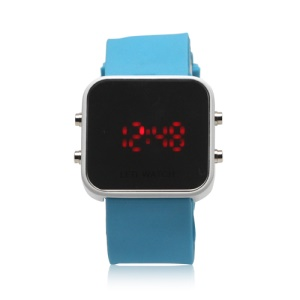 Fashionable LED Digital Sports Wrist Watch - Blue