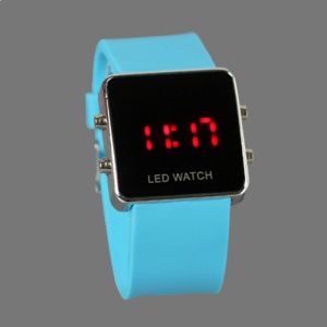 Hot Sports LED Watch with Silicone Band - Blue