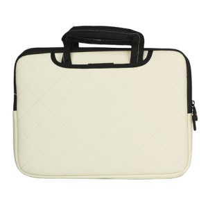 Soft Grid Zipper Case Bag Sleeve for MacBook Air / Pro 13.3-inch - White
