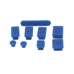 Silicone Anti-Dust Plug Cover Stopper for MacBook Pro 13 15 Air Laptop Notebook - Dark Blue