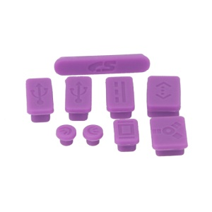 Silicone Anti-Dust Plug Cover Stopper for MacBook Pro 13 15 Air - Purple