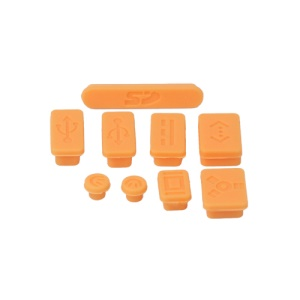 Silicone Anti-Dust Plug Cover Stopper for MacBook Pro 13 15 Air - Orange