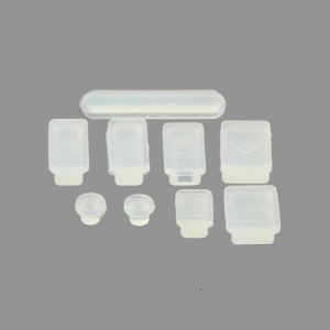 Silicone Anti-Dust Plug Cover Stopper for MacBook Pro 13 15 Air - Transprent