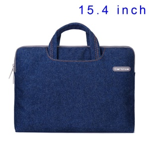 Blue Cartinoe Jean Series Handbag Case for MacBook Pro 15.4 inch, Size: 39 x 27cm