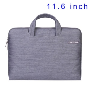 Grey Cartinoe Jean Series Notebook Handbag Case for MacBook Air 11.6 inch, Size: 31 x 21cm