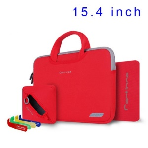 Red Cartinoe Breath Series Zipper Sleeve Handbag for MacBook Pro 15.4 inch, Size: 36 x 27cm