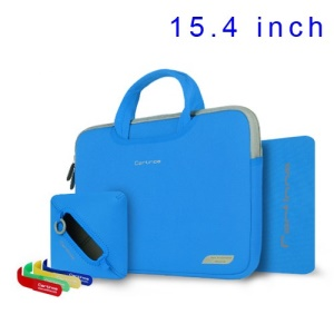 Blue Cartinoe Breath Series Zipper Nylon Notebook Bag for MacBook Pro 15.4 inch, Size: 36 x 27cm