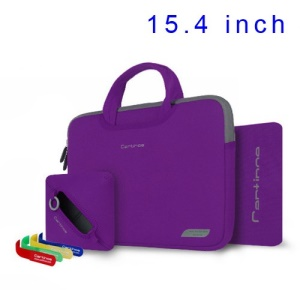 Purple Cartinoe Breath Series Zipper Nylon Notebook Bag Pouch for MacBook Pro 15.4 inch, Size: 36 x 27cm