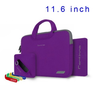 Purple Cartinoe Breath Series Zipper Nylon Notebook Sleeve Pouch Bag for MacBook Air 11.6 inch, Size: 30 x 20cm