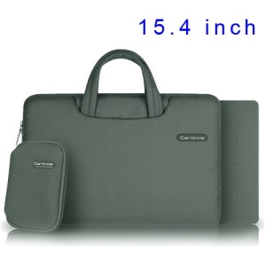 Grey Cartinoe Ambilight Series Zipper Fabric Notebook Pouch for MacBook Pro 15.4 inch, Size: 37 x 27cm
