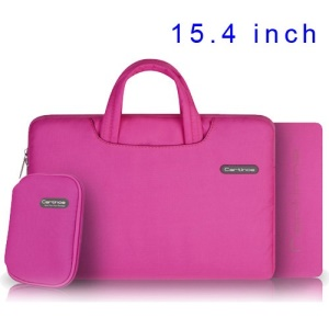 Pink Cartinoe Ambilight Series Zipper Fabric Notebook Handbag Pouch for MacBook Pro 15.4 inch, Size: 37 x 27cm