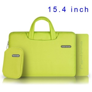 Yellow Cartinoe Ambilight Series Zipper Fabric Notebook Handbag Pouch Case for MacBook Pro 15.4 inch, Size: 37 x 27cm