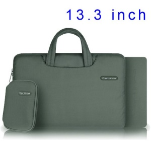 Grey Cartinoe Ambilight Series Zipper Fabric Notebook Handbag Pouch for MacBook Air Pro 13.3 inch, Size: 34 x 24cm