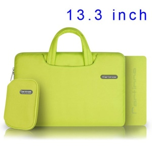 Yellow Cartinoe Ambilight Series Zipper Fabric Notebook Sleeve Case for MacBook Air Pro 13.3 inch, Size: 34 x 24cm
