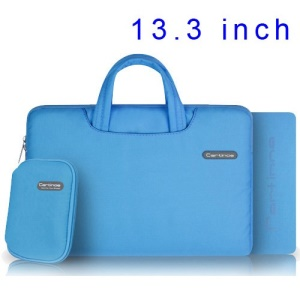 Blue Cartinoe Ambilight Series Zipper Fabric Notebook Sleeve Pouch Case for MacBook Air Pro 13.3 inch, Size: 34 x 24cm