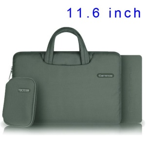 Grey Cartinoe Ambilight Series Zipper Fabric Notebook Sleeve Pouch Bag for MacBook Air 11.6 inch, Size: 31 x 21cm