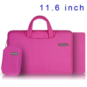Pink Cartinoe Ambilight Series Zipper Fabric Notebook Sleeve Pouch for MacBook Air 11.6 inch, Size: 31 x 21cm