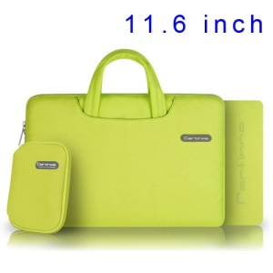 Yellow Cartinoe Ambilight Series Zipper Fabric Notebook Handbag Case for MacBook Air 11.6 inch, Size: 31 x 21cm