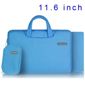Blue Cartinoe Ambilight Series Zipper Fabric Notebook Handbag Pouch for MacBook Air 11.6 inch, Size: 31 x 21cm