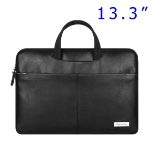Black Cartinoe Dirigent Series Zipper Notebook Sleeve Bag Case for MacBook Air Pro 13.3 inch, Size: 370 x 260 x 30mm