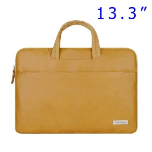 Gold Cartinoe Dirigent Series Zipper Notebook Handbag Case for MacBook Air Pro 13.3 inch, Size: 370 x 260 x 30mm