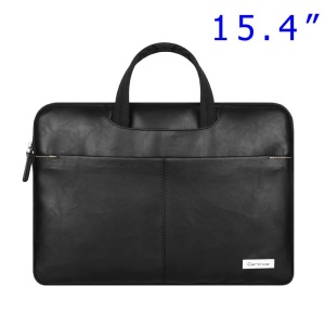 Black Cartinoe Dirigent Series Zipper Notebook Handbag Case for MacBook Pro 15.4 inch, Size: 390 x 270 x 30mm