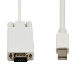 New Mini Displayport  to VGA Adapter Cable for Apple MacBook,Length:1.8m(6FT)