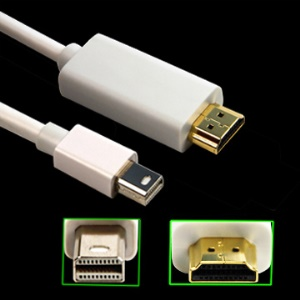 Mini DisplayPort to HDMI Cable M/M,Length:3M/10FT