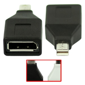 Mini DisplayPort DP to DisplayPort DP Adapter Converter