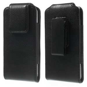 Vertical Leather Holster Case w/ 360 Degree Swivel Belt Clip for iPhone 5s 5