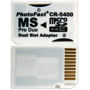 Dual Slot micro SDHC to MS PRO Duo adapter
