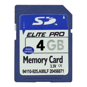 New 4GB Secure Digital High-Capacity (SDHC) Flash Memory Card