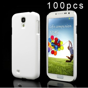 100PCS DIY Solid Color Hard Plastic Case for Samsung Galaxy S4 i9500 i502 i9505 - White