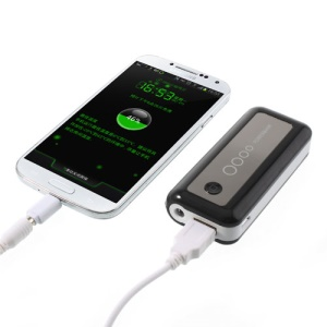 Black 5600mAh Mini Protable External Power Bank Charger for iPhone iPod Samsung HTC Sony Nokia