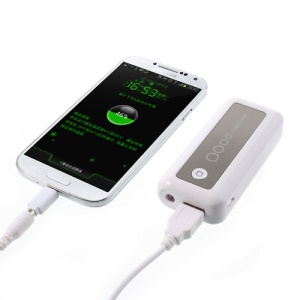White 5600mAh Mini External Battery Power Charger for iPhone iPod Samsung HTC Sony Nokia