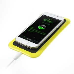 Itian K8 Qi Wireless Charger Transmitter Pad for Nokia 920/ LG Nexus 4/ iPhone 5/ Samsung N7100 - Yellow