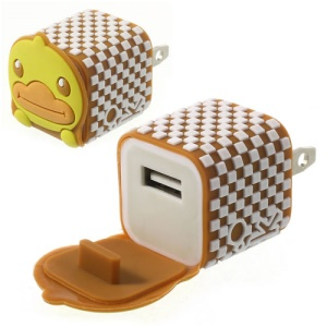US Plug Endearing Duck USB Charger Adapter for iPhone Samsung HTC LG