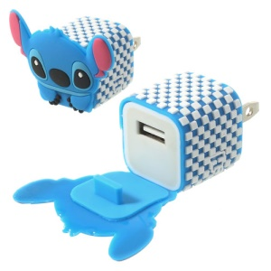 US Plug Endearing Stitch USB Charger Adapter for iPhone Samsung HTC LG