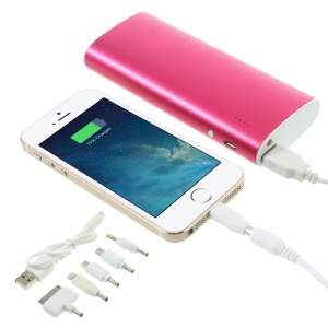 13000mAh Metal External Mobile Power Bank with LED Light for iPhone iPad iPod Samsung Sony LG - Rose
