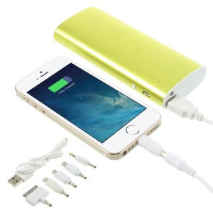 13000mAh Metal Battery Charger Power Bank with LED Light for iPhone iPad iPod Samsung Sony LG - Green