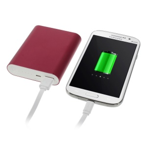10000mAh 2.1A Metallic Power Bank Backup Charger for iPhone iPad iPod Samsung Sony LG - Rose