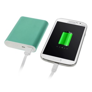 10000mAh 2.1A Metallic External Mobile Power Bank for iPhone iPad iPod Samsung Sony LG - Green
