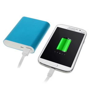 10000mAh 2.1A Metallic Portable External Power Bank for iPhone iPad iPod Samsung Sony LG - Blue