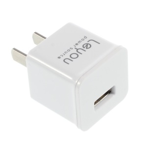US Plug Leyou LY-10 USB Travel Charger Adapter for iPhone iPod Samsung HTC LG Sony - White