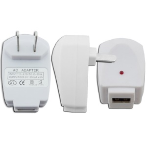 USB Power Adapter for iPod iPhone Cell Mobile Phone MP3 - US Plug