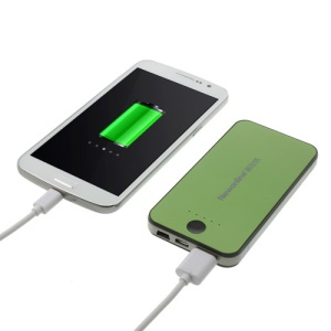 Newonline NE-4S12 6000mAh External Battery Charger for iPhone iPod Samsung HTC LG Sony etc - Green