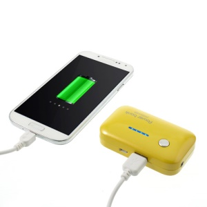 Yellow Newonline XP-1005 2600mAh Portable Power Bank for iPhone iPod Samsung HTC LG Sony etc